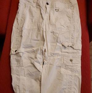 White cargo pants